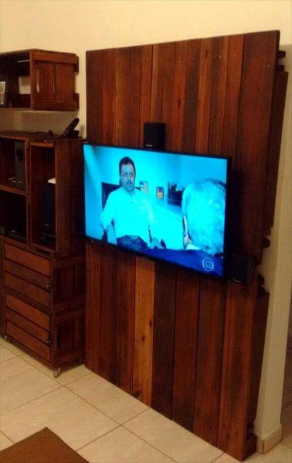Wall Mount Pallet Tv Stand 101 Pallets