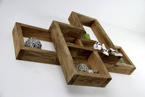 Recycle pallet shelf unit