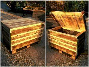 Rustic Pallet Chest – DIY Storage Ideas