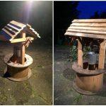 pallet garden wishing well