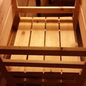 recycled pallet adjustable kitchen stand for children