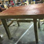 laminated wooden pallet table