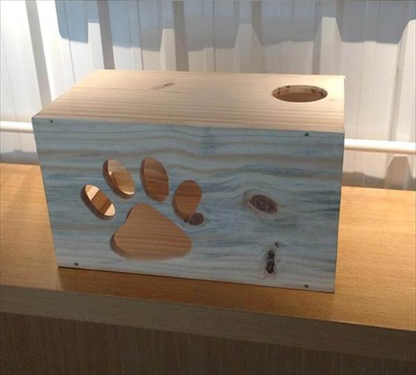 wooden pallet cat house