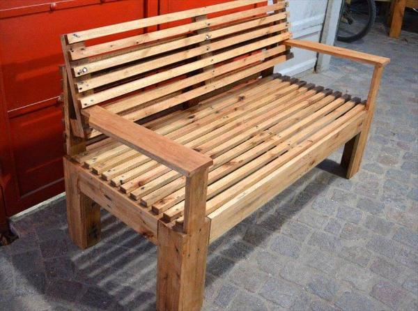 Wooden Bench Made Of Pallets 101