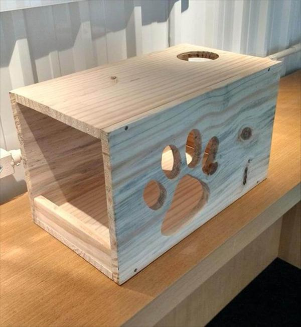 no-cost pallet cat house