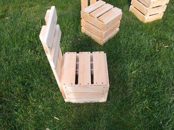 pallet fire-pit chair set