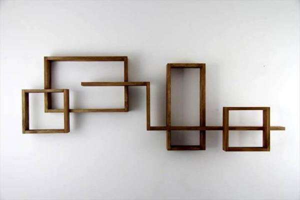no-cost pallet geometrical display shelves