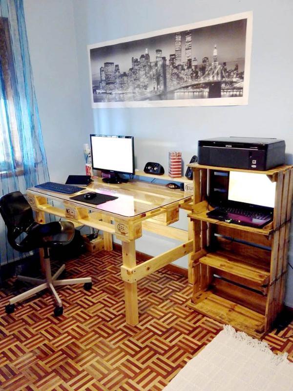 recycled pallet modern computer desk