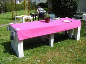 Pallet Garden Dining table with Stools