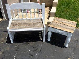 Pallet Patchwork – Bench and Side Table