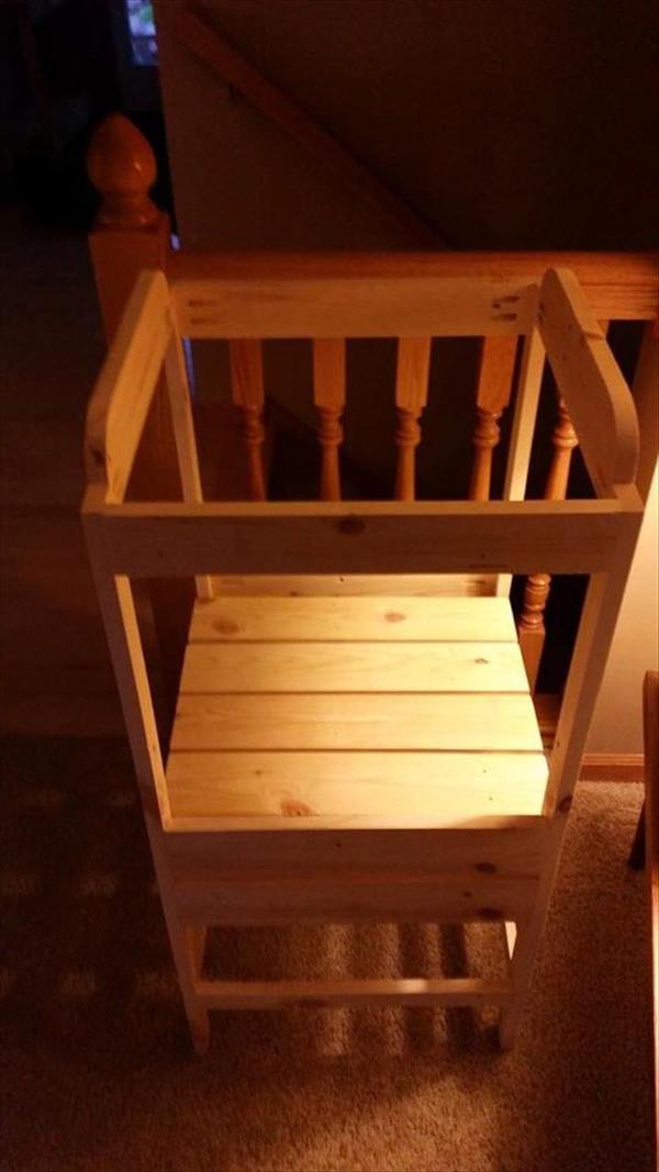 handmade wooden pallet adjustable kitchen stand