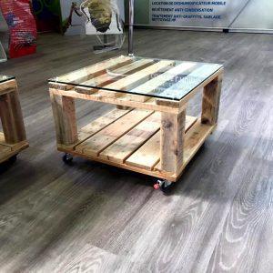 handmade wooden pallet mini coffee table