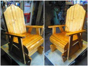 Glider Pallet Chair
