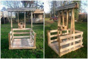 DIY Pallet Balancelle / Lounger for Children's up to 2 Year Old