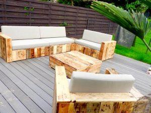 reclaimed wooden pallet block style sofa set