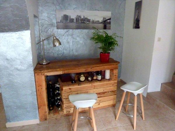 no-cost pallet wooden bar table or study table