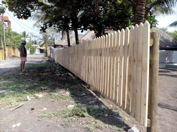 diy pallet privacy fence diy do it your self