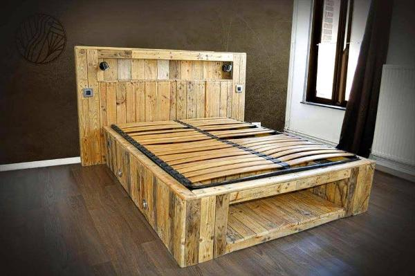 Handmade Pallet Lasting Bed With All Modern Features