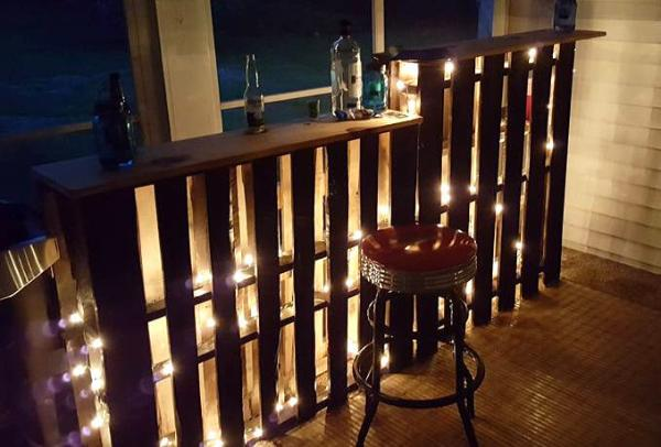 Multi level pallet bar with led lights 101 pallets aloadofball Image collections