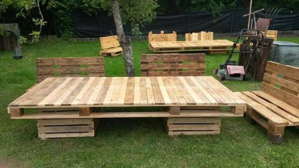 low-cost pallet spacious lounge sitting set