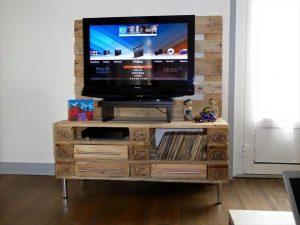 Wood Pallet TV Stand with Storage