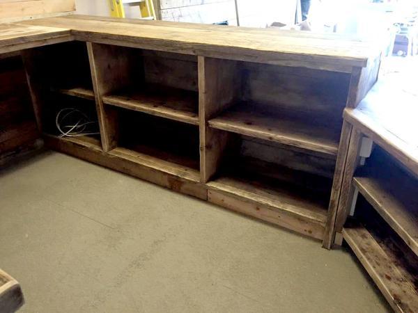 handmade custom indoor bar with storage