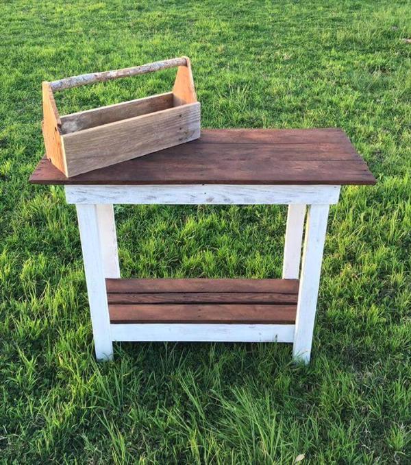 multipurpose pallet table