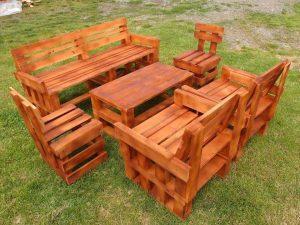 Pallets Garden Furniture Set