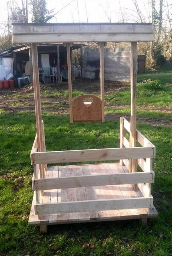 recycled pallet balancelle for kids