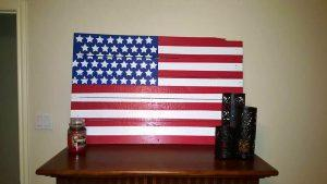 DIY Painted Pallet American Flag Sign