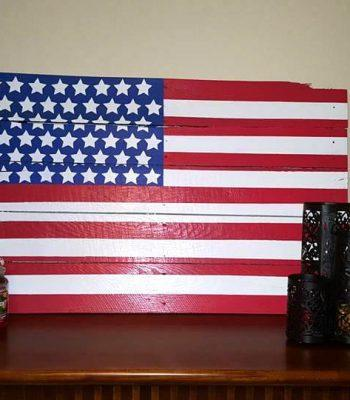 diy wooden pallet country flag wall art