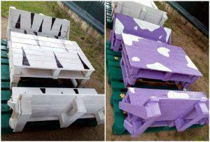 DIY Pallet Bench seat Set for Kids