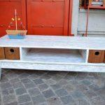 Recycled pallet media console table