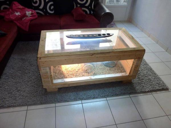 handmade pallet terrarium coffee table