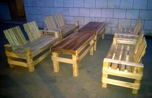 pallet patio seating set