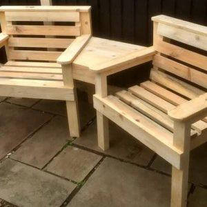 pallet arm chairs