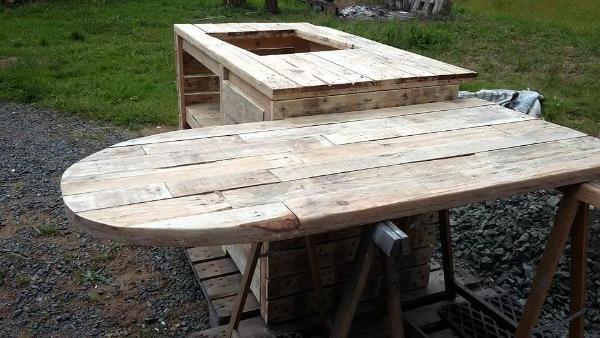 diy pallet kitchen island and table