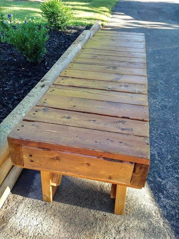 diy pallet outdoor bench seat