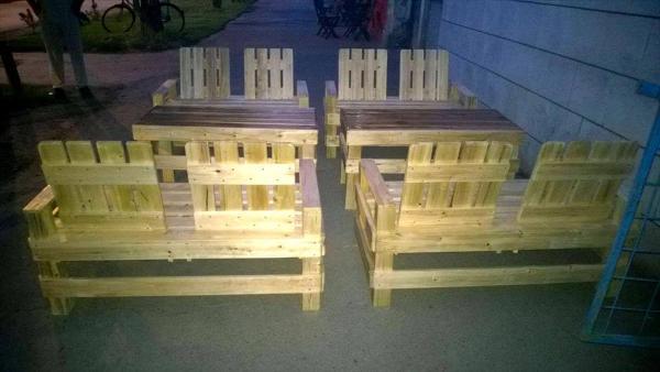 diy pallet patio seating set