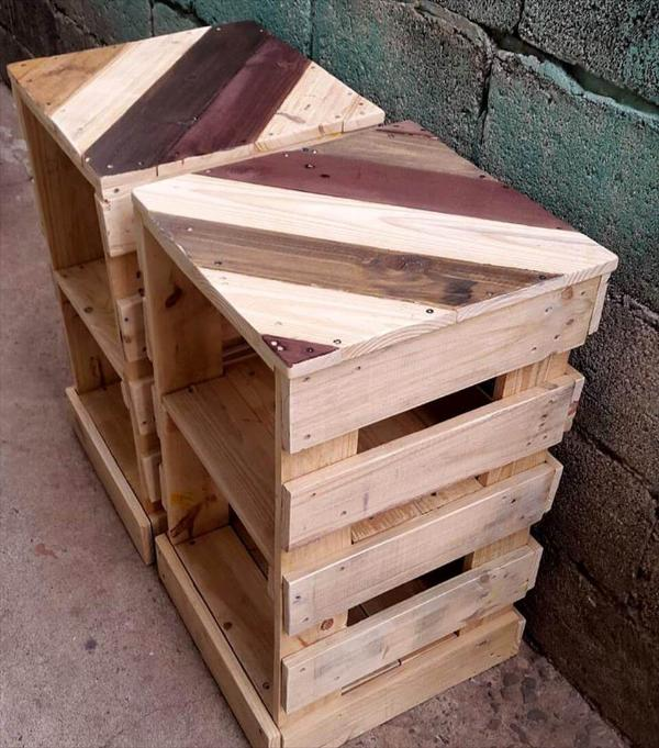 wooden pallet night stands