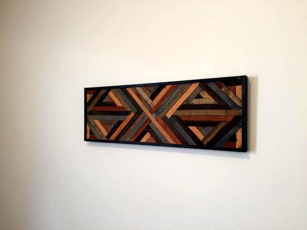 handcrafted pallet wall art