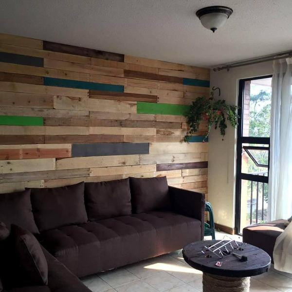 pallet made living wall