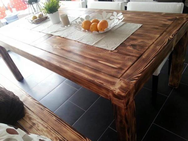 Handmade pallet dining set