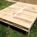 Up-cycled pallet platform bed
