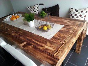 Rustic Style Pallet Dining Table Set
