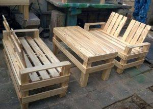 Wooden Pallet Patio Furniture Set