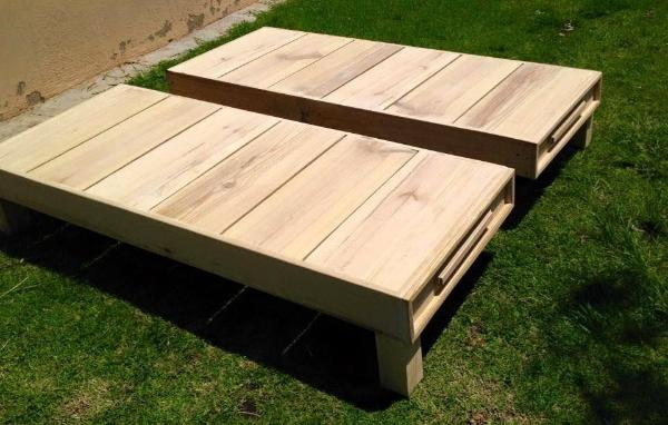 Re-purposed Pallet bed