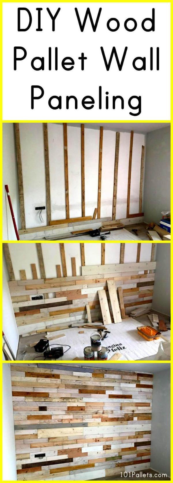Diy Wood Pallet Wall Paneling 101 Pallets