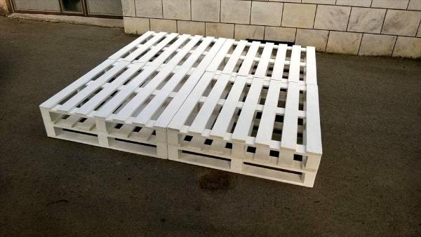 no-cost solid chic white pallet bed frame