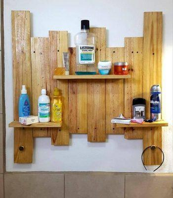 wooden pallet display shelves